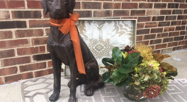 JWI Decor Dog and Flowers